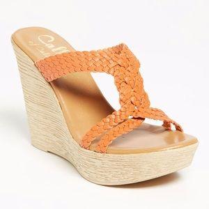 Callisto Brayden wedge sandals